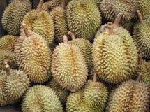 Durian fruit sale in farm market. Thailand Fruit background Stock Images