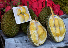 Durian fruit for Sale Stock Images