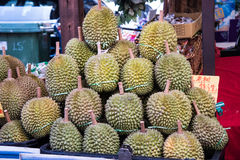Durian fruit for sale Royalty Free Stock Images
