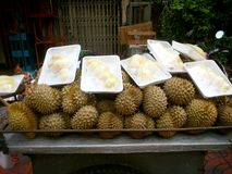 Durian fruit shop for sell Stock Photos