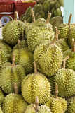 Durian, in fruit stall, Thailand Stock Photos