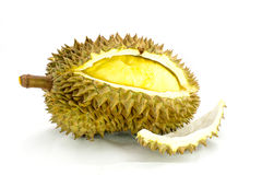 Durian fruit on white background Royalty Free Stock Photo