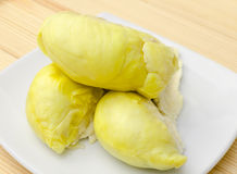 Durian fruit in white plate Royalty Free Stock Photo