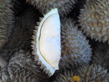 The durian. Fruit yellow delicious aromatic Stock Photos