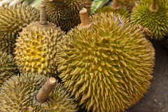Durian fruits background Royalty Free Stock Images