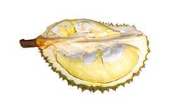 Durian gatunki Monthong Tajlandia odizolowywający na białym tle zdjęcie stock