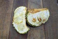 Durian i przegniły durian Zdjęcie Stock
