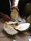 Durian im Markt Lizenzfreies Stockbild