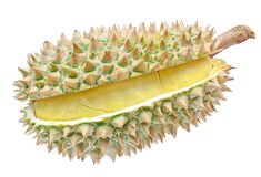 durian isolate biel Obrazy Royalty Free