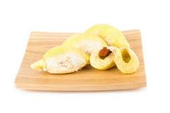 Durian isolato su priorità bassa bianca immagini stock
