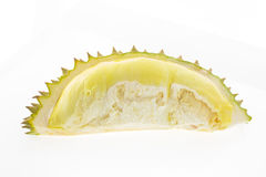 Durian isolato su priorità bassa bianca Immagine Stock Libera da Diritti