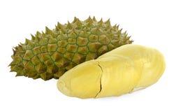 Durian isolato su priorità bassa bianca Immagine Stock