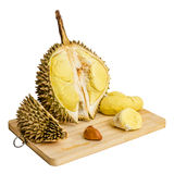 Durian. Jätte- tropisk frukt. Arkivbild