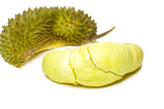 Durian , King of Fruits isolated / Durian , King of Fruits on white background / Durian , King of Fruits With Clipping path. Stock Photo