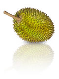 Durian, King of Fruits. Durian, pronouns as King of Fruits, isolated on white background Stock Photos