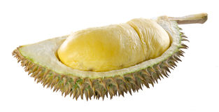 Durian, the king of fruits South East Asia on background. Stock Photo