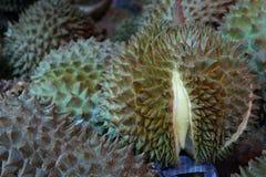 Durian, konung av tropiska frukter i Thailand och South East Asia arkivfoto