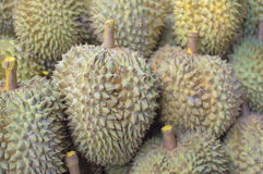 Durian on the market. In thailand Stock Photos