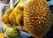 Durian at the Market Royalty Free Stock Photo