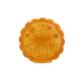 Durian Mhonthong Mooncake With Egg isolated on white background.  Royalty Free Stock Photos