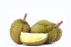 Durian  mon thong is king of fruits durian on white background fresh healthy durian fruit food isolated Stock Images