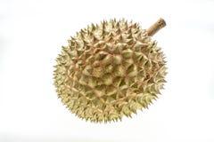 Durian na biały tle Zdjęcia Stock