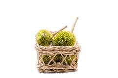 Durian na cesta Fotografia de Stock
