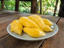 Durian na tabela Imagem de Stock Royalty Free