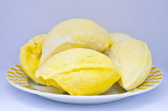 Durian na talerzu Obrazy Royalty Free