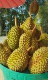Durian nel canestro Fotografia Stock