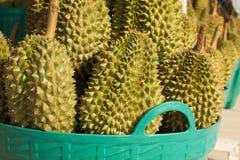 Durian nel canestro Fotografie Stock Libere da Diritti
