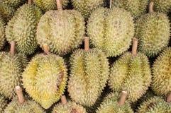 durian nel mercato Immagini Stock