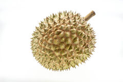 Durian no fundo branco Fotos de Stock
