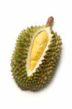 Durian no fundo branco Foto de Stock Royalty Free