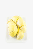 Durian no fundo branco, rei dos frutos Fotografia de Stock Royalty Free