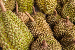 Durian no mercado Fotografia de Stock Royalty Free