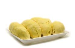 Durian op wit Royalty-vrije Stock Foto's