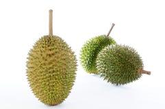Durian op witte achtergrond Stock Foto