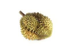 Durian op witte achtergrond Stock Fotografie