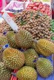 Durian på marknaden Royaltyfri Fotografi