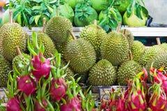 Durian and pitahaya Royalty Free Stock Image