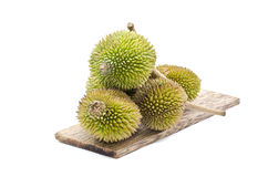 Durian on plain woo Stock Image