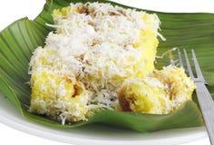 Durian popular de Kuih Putu Bambu Imagenes de archivo