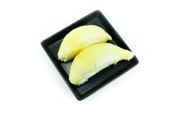 Durian, rei dos frutos isolados no fundo branco Fotos de Stock