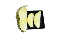 Durian, roi des fruits d'isolement sur le fond blanc Photographie stock