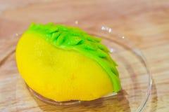 Durian roomijs dat als durian maakte Stock Afbeeldingen