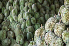 Durian sell in Thai market Stock Photo