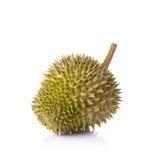 Durian su priorità bassa bianca fotografia stock libera da diritti