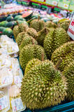 Durian in Supermarket Stock Photos