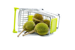 Durian sur le chariot Images libres de droits